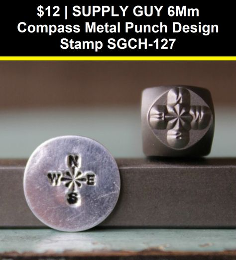 SUPPLY GUY 6mm Pine Tree Metal Punch Design Stamp SGCH-197