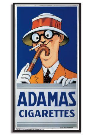 Adamas Cigarettes aage lippert - adamas cigarettes | aage lippert 1894-1969 | poster
