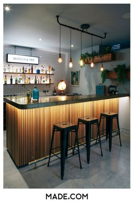 Super Home Bar Counter Design Light Fixtures 35 Ideas Home