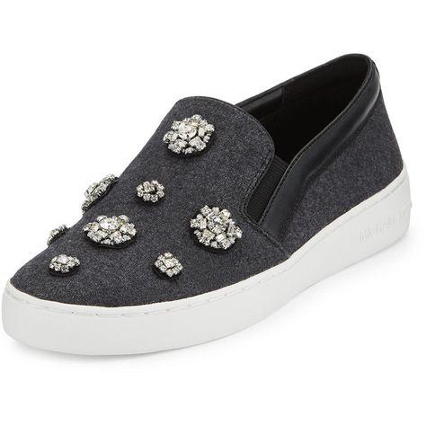 5049570d66d8 MICHAEL Michael Kors Keaton Jeweled Slip-On Sneaker ( 205) ❤ liked on  Polyvore