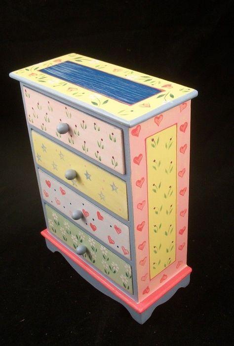Painted Wide Dresser EWDP2147 Fashion Doll dollhouse furniture 1//6 /& 1//8 Scale
