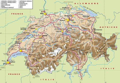 Map Of Switzerland Map Of Switzerland Europe Map Central Europe
