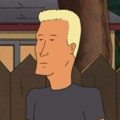 Brad pitt as patch boomhauer on king of the hill bom