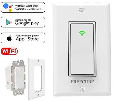 Smart Switches Work With Alexa Google Home In Wall Timer Switch Wireless Remote Control Wifi Switch For Light No Hub Required Smart Switches Smart Wifi Wifi