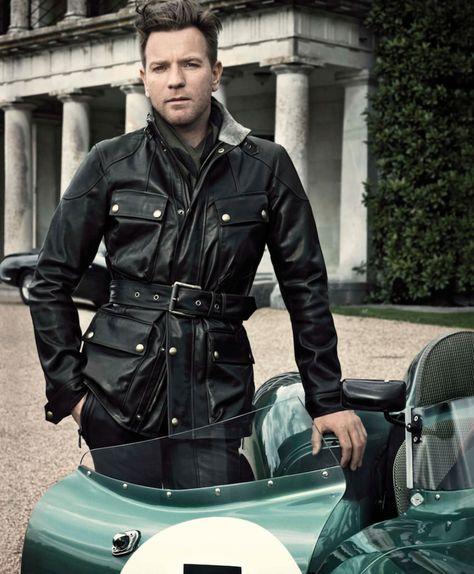 Panther Antique Black Leather Jacket by Belstaff