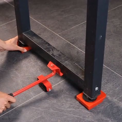 "Super simple to use! Put the lifter under to furniture and lift it (can lift your furniture to 2"" high), then let 4 pcs rollers into the 4 corners. It can bear 150 kg/330 lbs, so you can easily move furniture or heavy objects."