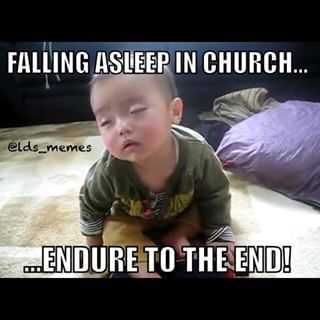 Especially When You Watch A Movie In Sunday School Church Sleepy Lds Mormon Imamormon Sundayschool Lds Memes Funny Mormon Memes Funny Church Memes
