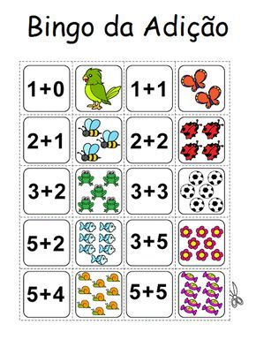 Bingo Da Adicao Con Imagenes Matematicas Primeros Grados