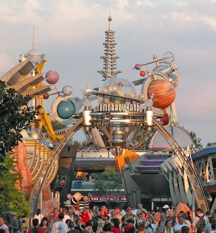 Tomorrowland entrance at Magic Kingdom