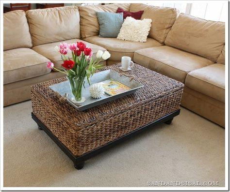 Family Room - abaca coffee table- LOVE