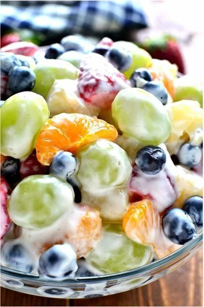 Creamy Fruit Salad Me Is Condensed Milk Fattening Also Me Nah Fruit Salad With Yogurt Best Fruit Salad Fruit Salad Recipes