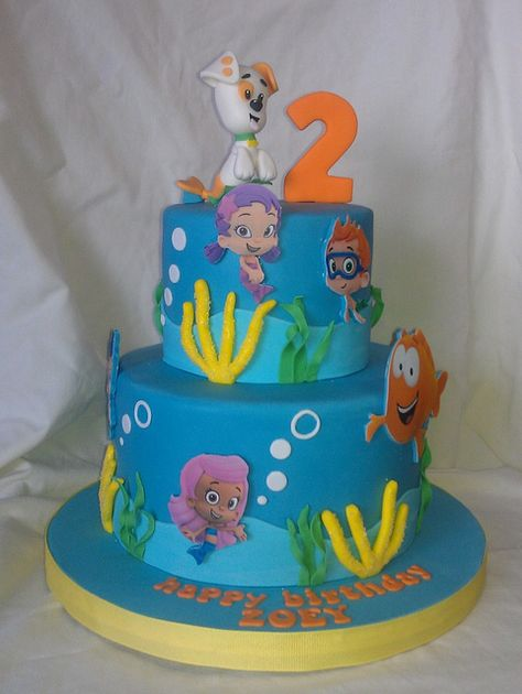 Bubbly Guppie cake by mick6799, via Flickr