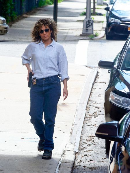 Jennifer Lopez is seen on the set of 'Shades Of Blue'.