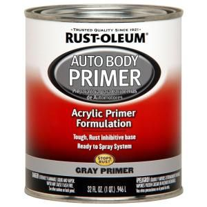 Rust Oleum Automotive 1 Qt Gray Auto Body Acrylic Primer 2 Pack 253499 Camper Makeover Body Painting Red Paint