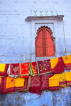 In a Jodhpur Market by Heather Hartkamp