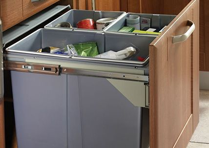 Kitchen Waste Bin Replacements And Spares Waste Bins For Front Fix Doors For Drawer Box Shelf Mountin Kitchen Waste Bin Recycled Kitchen Kitchen Cupboards