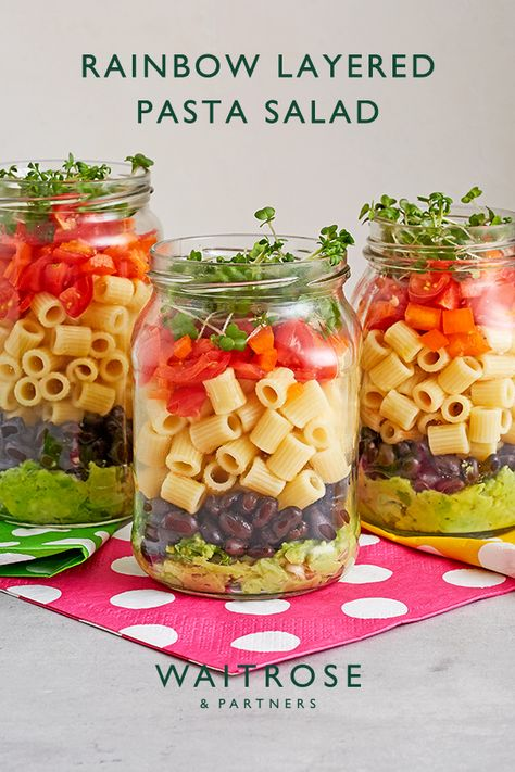 Not only do they look great, but kids will also love getting involved in making these veg-packed salads. Use old jam jars or any other container with a lid to make them easy to transport to your alfresco adventures.  Tap for the full Waitrose  Partners recipe.