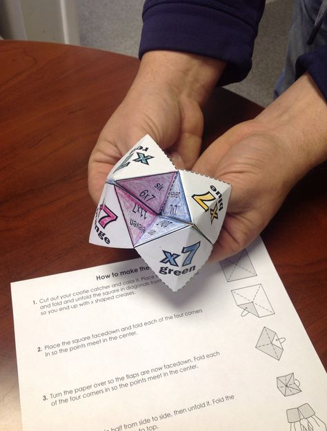 Students will love learning with our origami cootie catchers a.k.a fortune tellers!