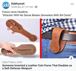 coin purse self defense weapon Dankest Memes, Funny Memes, Jokes, Future News, Self Defense Weapons, Utila, Tumblr Funny, Popular Memes, Inventions