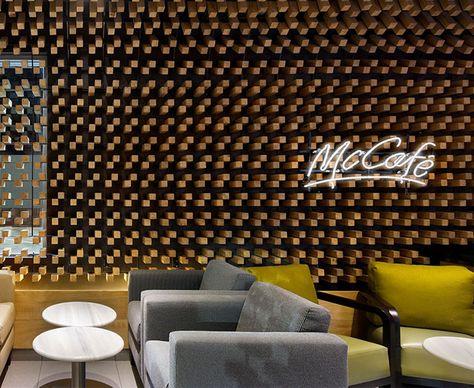 McCafe Interior Decor by Solis Colomer Arquitectos cafe interior decor thousands wooden