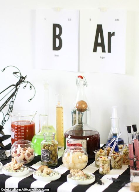 HALLOWEEN BAR :: SCIENCE LAB —  so frighteningly cute from @celebrateathome and @commandbrand