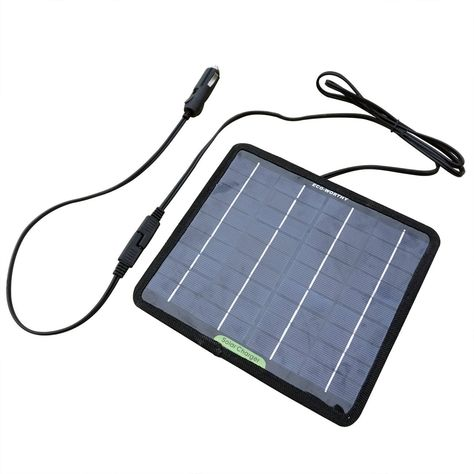 Amazon Com Eco Worthy 12 Volts 5 Watts Portable Power Solar Panel Battery Charger Backup For Car Boat Batterie Boat Battery Solar Panel Battery Solar Charger