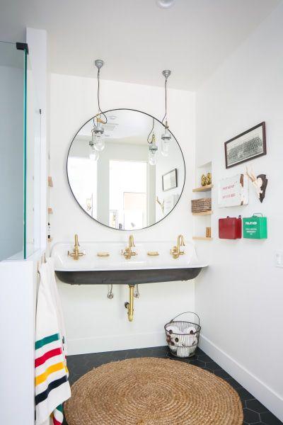 Whitewashed Modern Vintage Inspired California Home Tour Modern Bathroom Decor Amazing Bathrooms Bathroom Design