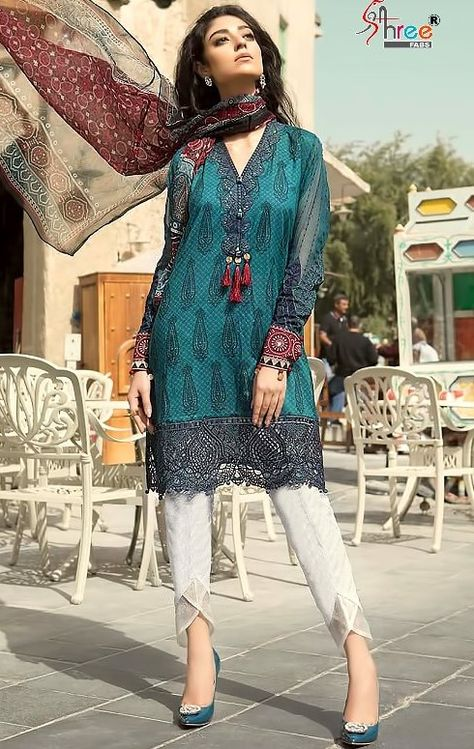 Presenting latest collections of Mariya.B.Lawn 18 Summer Collection Vol-2  Catalog name: Mariya.B.Lawn Vol 18 Vol-2  Fabric details: Top: Cambric Cotton Print  Bottom- Semi Lawn   Duppata: Net/Chiffon  8 designs in the catalog Rs.949/-pc minimum order full set only