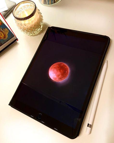 """Emine Ilhan on Instagram: """"𝔯𝔢𝔡 𝔪𝔬𝔬𝔫 (digital illustration) #moonlight #moonlovers #redmoon #red #moonchild #moonmagic #digitalart #digitalillustration…"""""""