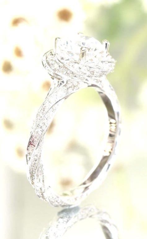 1.78 Ct Round Sim Diamond Twisted Flower Engagement Ring 14K White Gold Fn