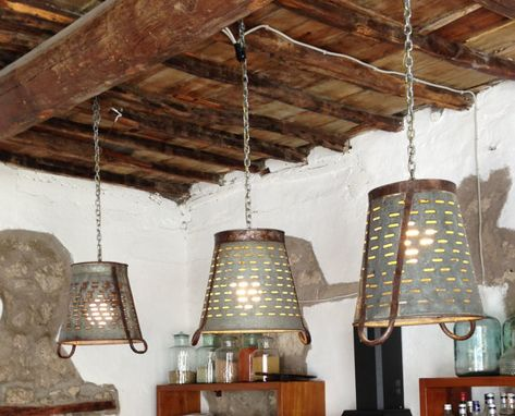 Metal olive bucket lamp pendant lighting industrial lighting