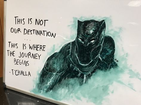 Expo Marker Black Panther picture in my school's library