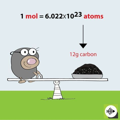 The Mole relationship to Carbon - Surfguppy - Chemistry made easy - visual learning