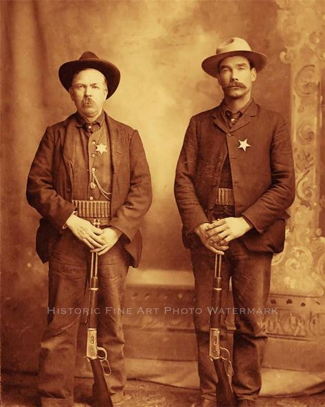 Western lawmen vintage photo lawman guns rifles old west