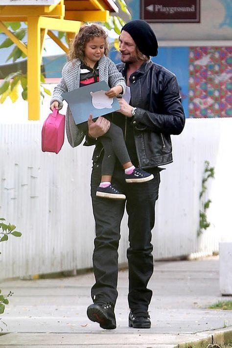 Gabriel Aubry gives Nahla a lift from school
