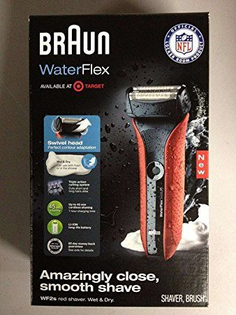 Braun Waterflex Wf2s Wet And Dry Electric Shaver With Swivel Head Red Review Shaver Smooth Shave Magic Shave