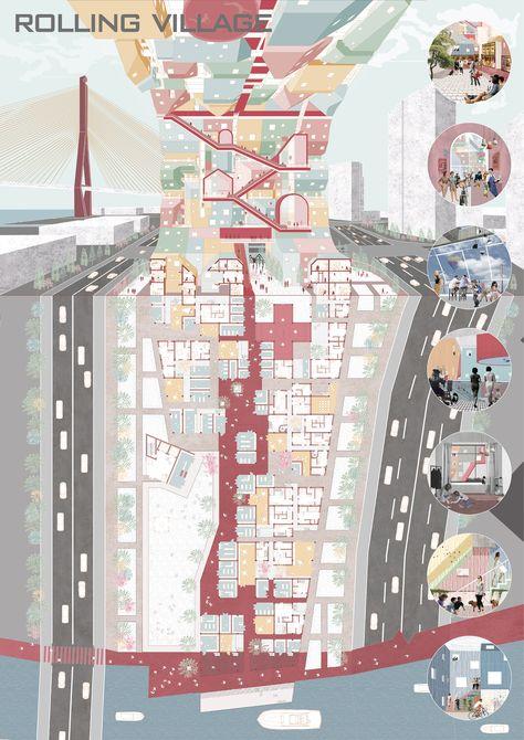 Mvrdv-Tongji Workshop- SXHGJ,Rolling Village,architecture, drawing