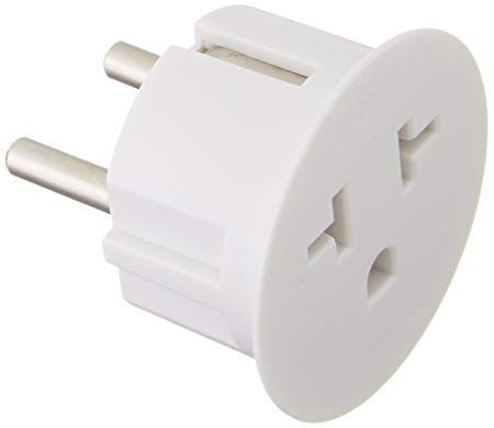 6 Pack International Power Adapter with USA-to-European Schuko Connection