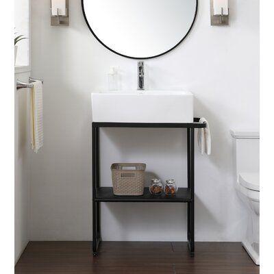 Wrought Studio Lunde 26 Single Bathroom Vanity In 2020 Single Bathroom Vanity Vanity Design Vanity