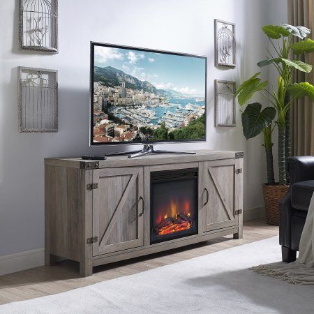 Home Fireplace Tv Stand Barn Door Tv Stand Entertainment