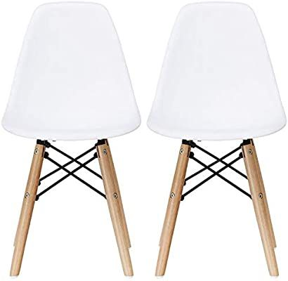 Amazon Com 2xhome Set Of Two 2 White Plastic Chair For Kids Size Plastic Chair Size Side Chairs Plastic Chairs White Seat Natura Modern Kids Chairs Chair White Plastic Chairs