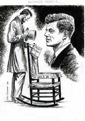 Abraham Lincoln Cartoon Printed In1963 Shortly After The