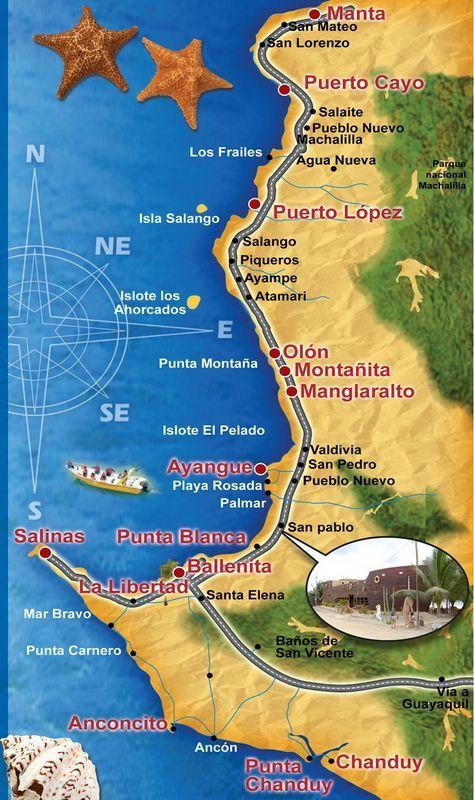 La Ruta del Spondylus Quito Ecuador Travel, Galapagos Travel ... Salinas Ecuador Map on salinas pr, cuenca airport map, salinas ca, salinas sports complex, amazon rainforest map, salinas puerto rico map, salinas beach, salinas river valley, salinas gangs, salinas county map,