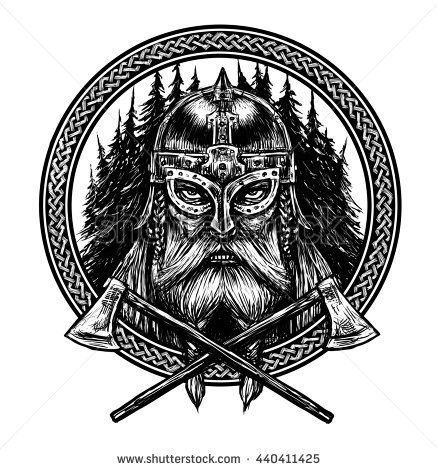 Ancient Viking Head In A Ring With Scandinavian Ornament Logo For Mascot Design Graphic Illustration The Ax A Sword A Viking Art Ancient Vikings Vikings