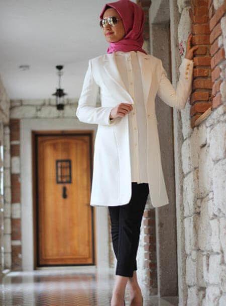Modern Tesettur Blazer Ceket Modelleri Blazer Ceket Mutevazi Moda Basortusu Modasi