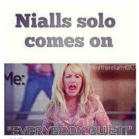 That's how it was at the concert I went to. lln . As soon as Niall's and Harry's solo came on, it went quiet.