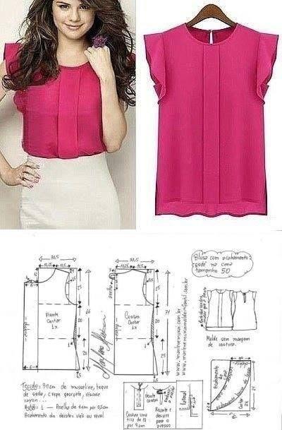 Blusa Rosada Patrones De Blusa Confeccion De Blusas Patrones De Vestido De Costura
