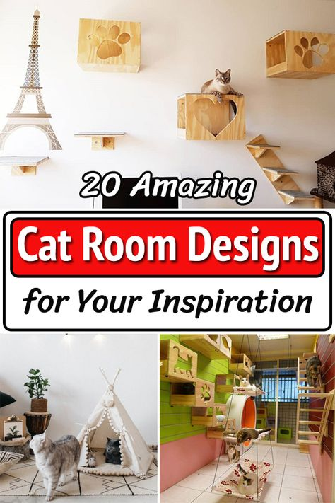 Planning to create personal space for your little feline friend? Here're some fantastic and uniquely amazing cat room designs for your inspiration!