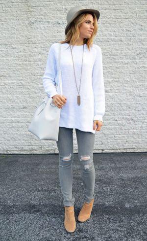 grises para Moda y bonita y jeans Grey Outfits Jeans Pinterest verte Outfits sencilla elegante con 14 jeans IWqtZpw