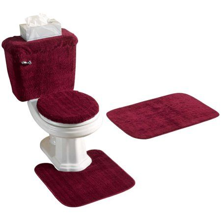 Pin By Brittani Croff On B I C Apartment Red Bathroom Rugs Bathroom Rug Sets Bathroom Red